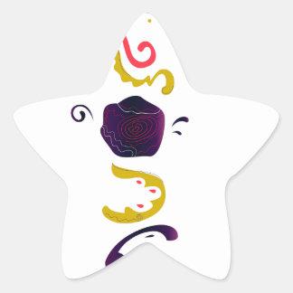Luxury handdrawn Embroidered Folk edition Star Sticker