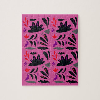 LUXURY HANDDRAWN LACE : PINK ETHNO SUMMER EDITION JIGSAW PUZZLE