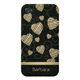 Luxury Hearts iPhone 4 Cases