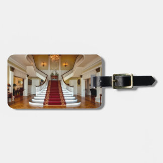 Luxury Home Red Carpet Stairs Luggage Tag