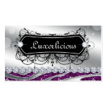 Luxury Jewellery Salon Fashion Zebra Purple