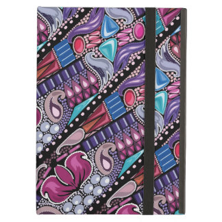 Luxury jewelry bright colorful pattern iPad air case