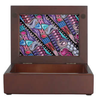 Luxury jewelry bright colorful pattern keepsake box