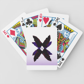 Luxury jungle Leaves 3d Black Bicycle Playing Cards