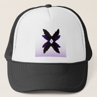 Luxury jungle Leaves 3d Black Trucker Hat