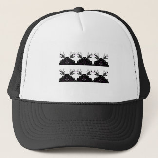 LUXURY LACE VINTAGE BLACK TRUCKER HAT