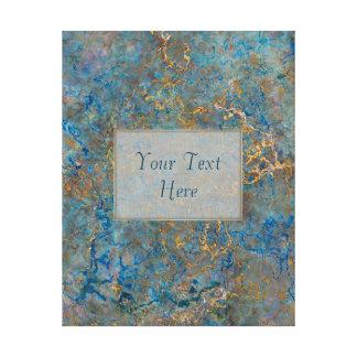 Luxury Lapis Lazuli Marble Stretched Canvas Print