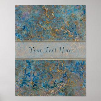 Luxury Lapis Lazuli Marble Posters