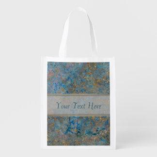 Luxury Lapis Lazuli Marble Grocery Bag