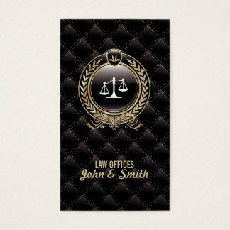 Luxury Lawyer/Attorney Dark business card