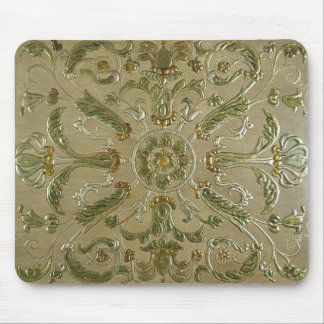 LUXURY LEATHER Gilded Floral Print Mouse Pad