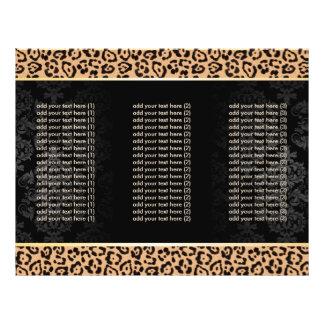 Luxury Leopard Print & Damask Tri-Fold Brochures 21.5 Cm X 28 Cm Flyer