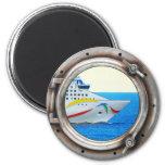 Luxury Liner Porthole View Fridge Magnets
