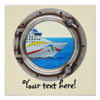 Luxury Liner Porthole View Poster