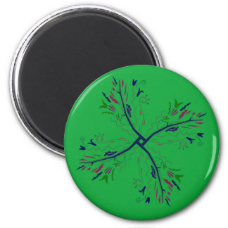Luxury mandala art Green Magnet