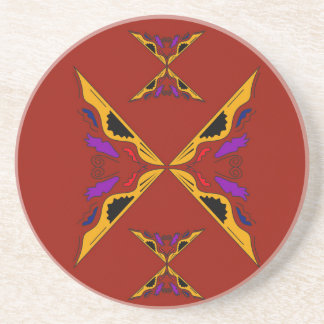 Luxury mandala gold brown coaster