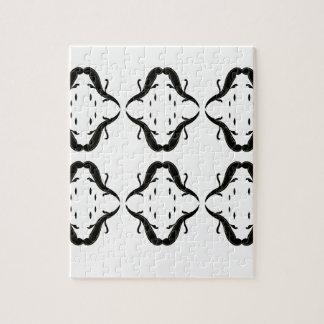 Luxury mandalas black on white jigsaw puzzle