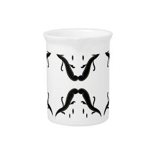 Luxury mandalas black on white pitcher