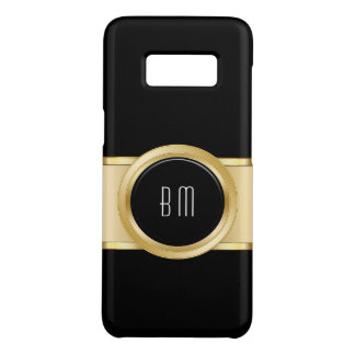 Luxury Monogram Gold And Black Case-Mate Samsung Galaxy S8 Case