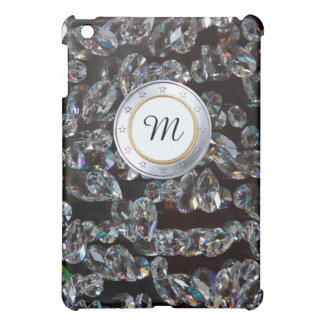 Luxury Monogram Gold Coin WIth DIamonds Background Case For The iPad Mini
