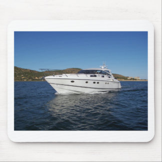 Luxury Motor Boat Mousepad
