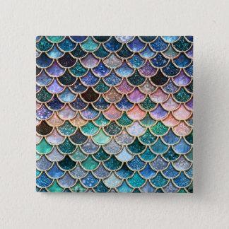 Luxury multicolor Glitter Mermaid Scales 15 Cm Square Badge