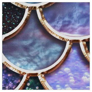 Luxury multicolor Glitter Mermaid Scales Fabric