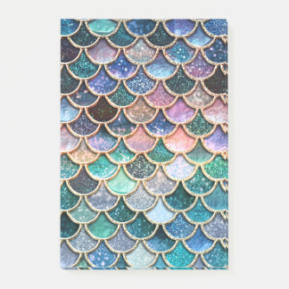 Luxury multicolor Glitter Mermaid Scales Post-it Notes