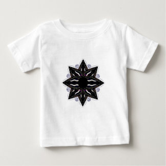 Luxury ornament  black on white baby T-Shirt