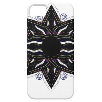 Luxury ornament  black on white barely there iPhone 5 case