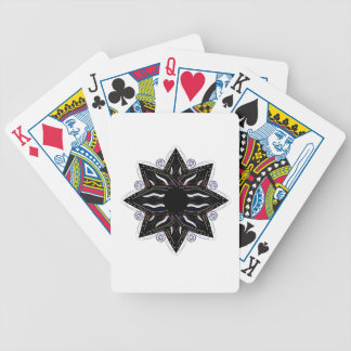 Luxury ornament  black on white bicycle playing cards