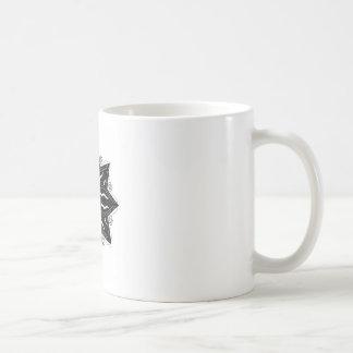 Luxury ornament  black on white coffee mug
