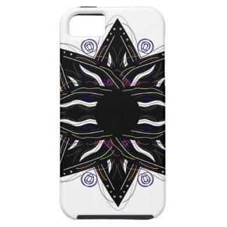 Luxury ornament  black on white iPhone 5 case