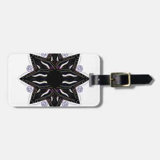 Luxury ornament  black on white luggage tag