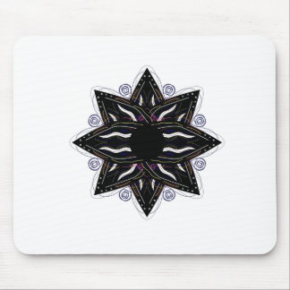 Luxury ornament  black on white mouse pad