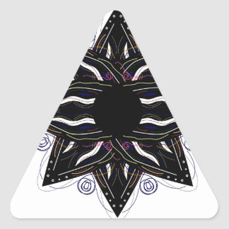 Luxury ornament  black on white triangle sticker