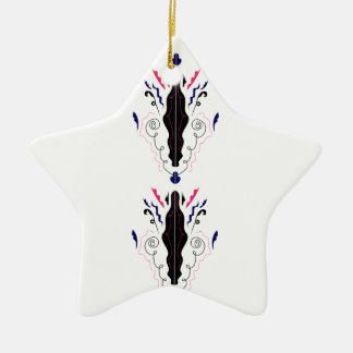 Luxury ornaments black on white
