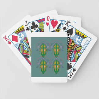 Luxury ornaments green blue bicycle playing cards