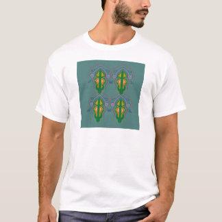 Luxury ornaments green blue T-Shirt