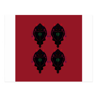 Luxury ornaments red black postcard