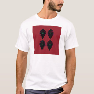 Luxury ornaments red black T-Shirt
