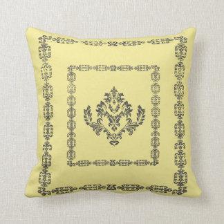 Luxury Pattern Monogram Throw Pillow / Cushion
