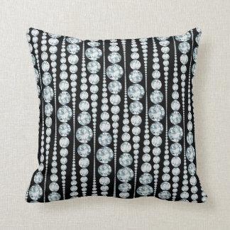 Luxury Pattern with white Diamond Stripes Throw Cushions