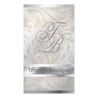 luxury pearl damask fashion boutique businesscards Double-Sided standard business cards (Pack of 100)