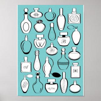 Luxury perfumes framed print - blue