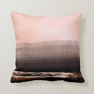 Luxury Pink Rose Gold Pink Metallic Black Strokes Cushion