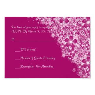 Luxury Plum Floral Spring Blanket RSVP card Invites