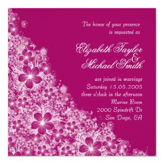 Luxury Plum Floral Spring Blanket Wedding Invite Invites