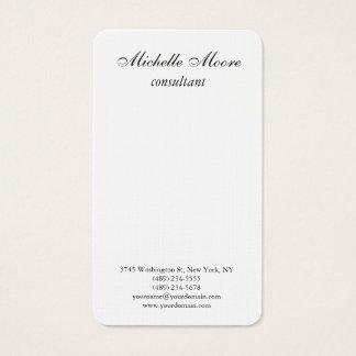 Luxury Premium Linen Black & White Minimalist Business Card
