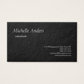 Luxury Premium Thick Black Plain Minimalist Business Card